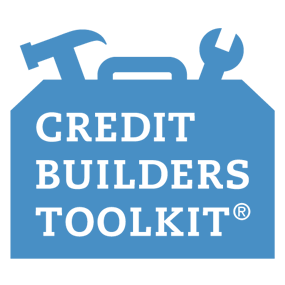 blue icon for credit builders toolkit